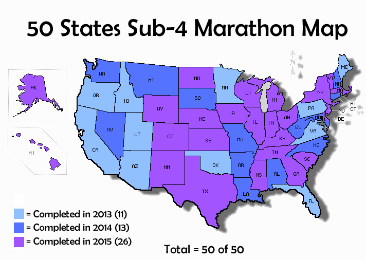 50 Sub 4 Marathon Map Final