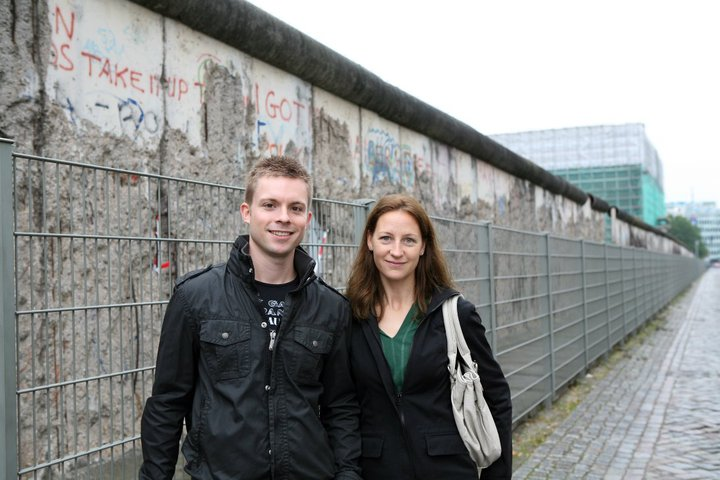 Checking out the Berlin Wall