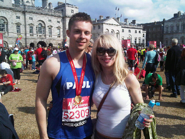 Me and Kate in the finishing area