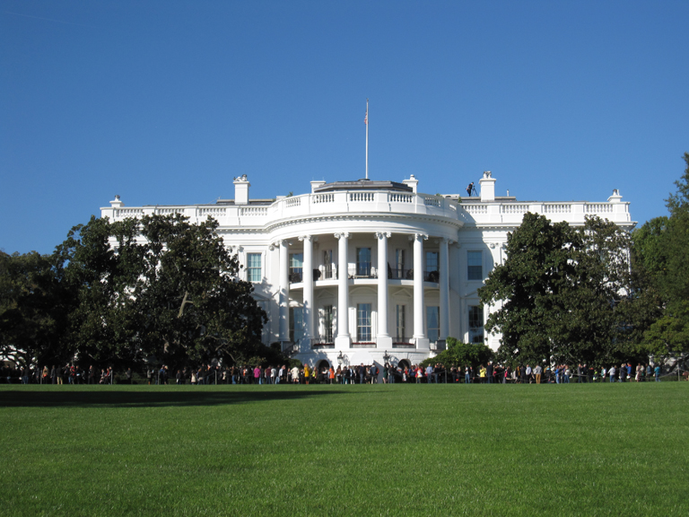 View of the White House taken within the grounds