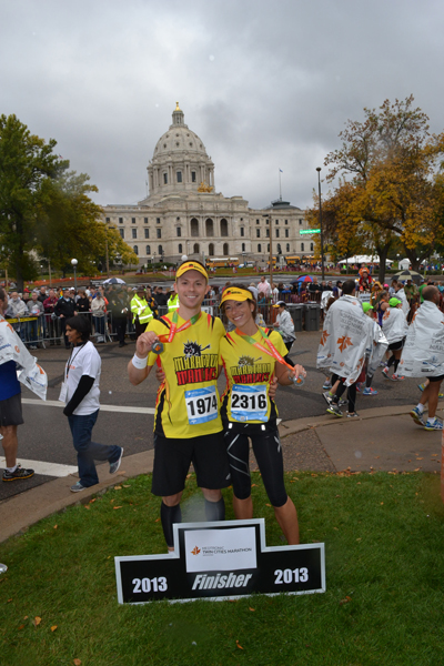 Finishing in front of the State Capitol