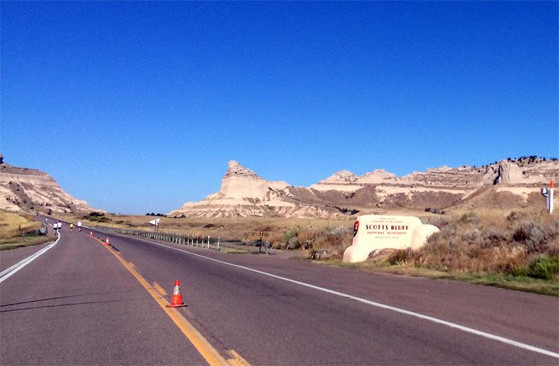 Approaching Scotts Bluff