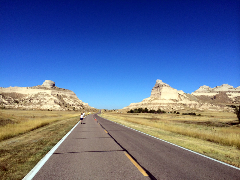 Running up to Scotts Bluff National Monument