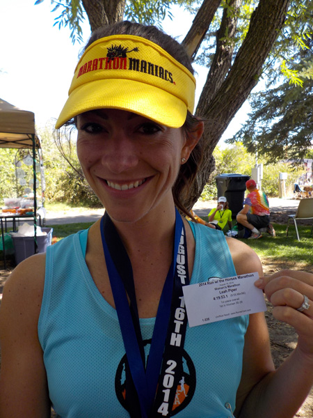 Leah wins a marathon!