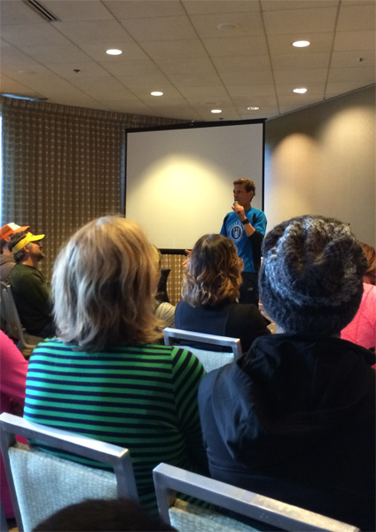 At the talk with Dean Karnazes