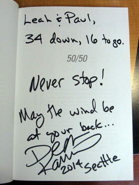 Book signed.. thanks Dean!