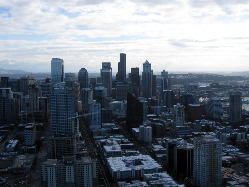 View of downtown Seattle from the top