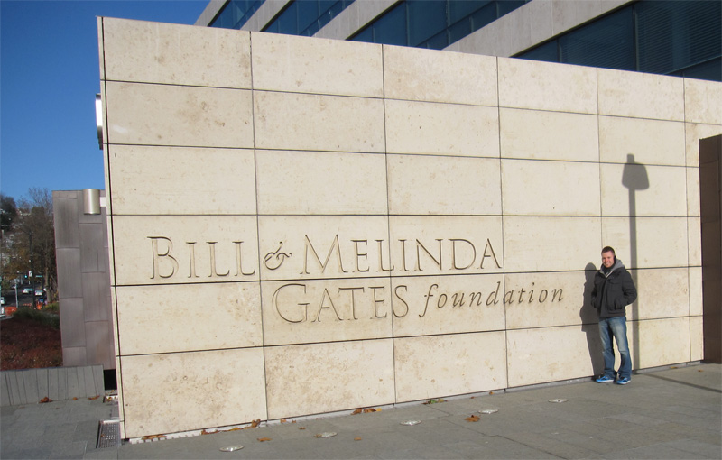 We walked by the Bill and Melinda Gates Foundation