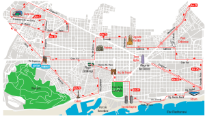 Barcelona-Route