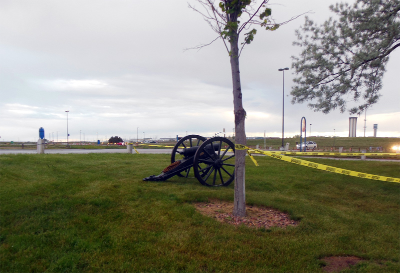 Cannon that was used to start the race