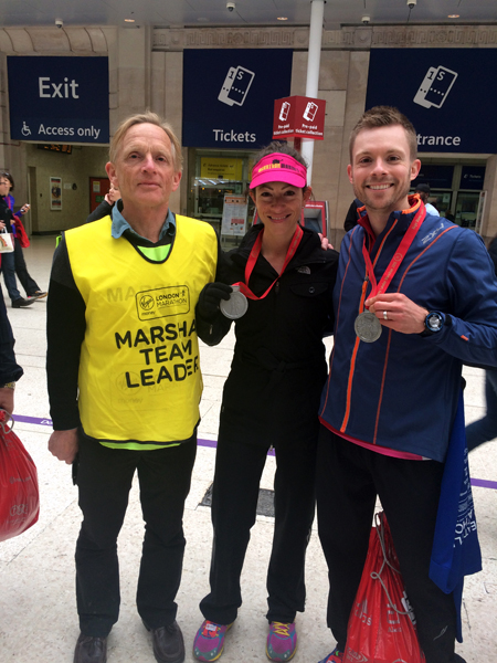 With my Uncle at Waterloo Station. He's a huge influence on my marathon running and my best time still doesn't come close to his