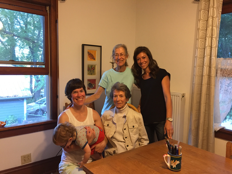 4 generations in the same room!