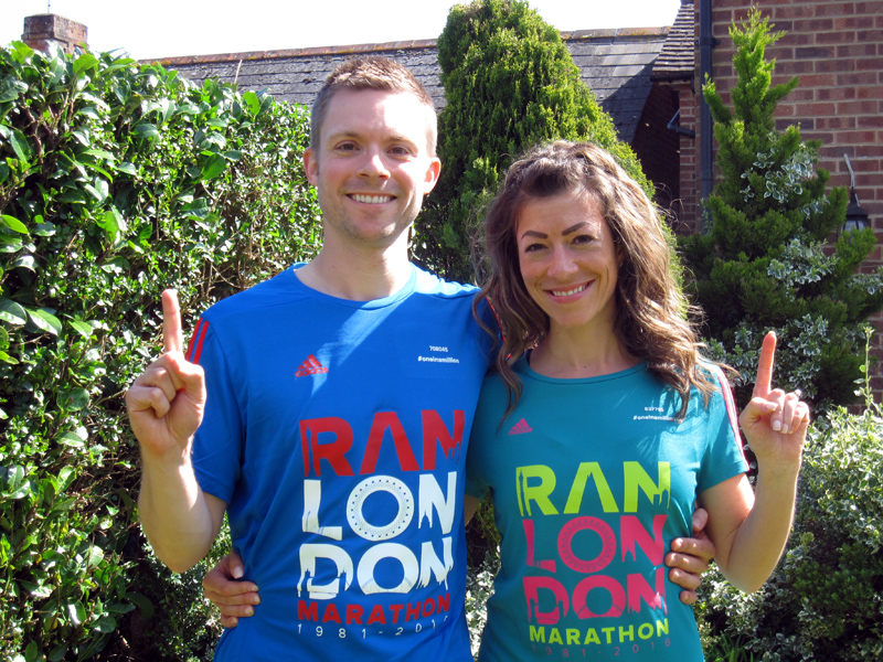 If you've run the London Marathon before, check out the official website where you can order your customized t-shirt with your own finishing number